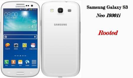 Samsung Galaxy S3 Neo I9301i rooted