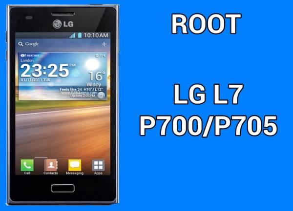How To Root LG L7 P700/P705