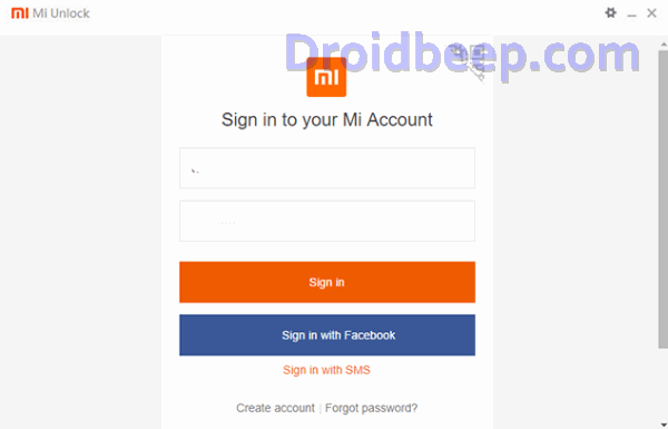 sign Redmi 4 akun