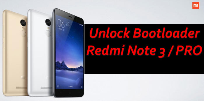 Unlock Bootloader Xiaomi Redmi Note 3