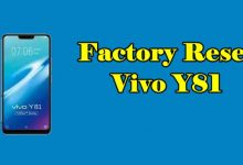 How To Reset Vivo Y81