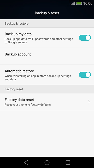 Honor Bee 2 Backup and Reset