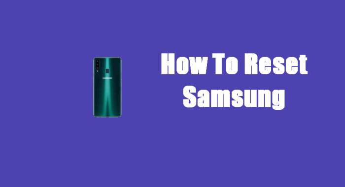 How To Reset Samsung